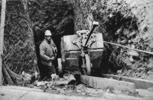 A mine tunnel is dug under the German lines at Vosges front October 1916. The sappers worked at a depth of 17 meters until they reached a spot below enemy positions, when explosives would be placed and later detonated. (Austrian State Library)