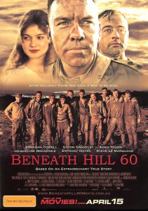 "The promotional flyer which presents the Australian feature film""Beneath Hill 60"", dramatising the mining which took place before the Battle of Messines (Public domain)"