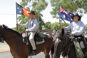The Borella Ride proceeds through Tennant Creek, the beginning of a 12 day journey to retract Albert Borella's journey to enlist.
