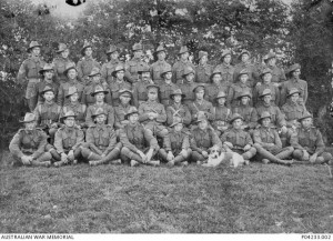 Members of the 9th Infantry Battalion with Sgt James McDonald on the extreme left front row.