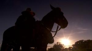 The lone Rider on a 1,000 kilometre journey