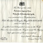 Borella's Mention in Despatches certificate contains two of the most famous names in military history: those of Field Marshal Sir Douglas Haig, and Winston Churchill, Secretary of State for War.