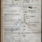 Albert Borella's enlistment form dated 15 March 1915.